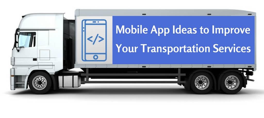 transportation mobile app development services